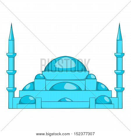 Mosque icon. Cartoon illustration of mosque vector icon for web design
