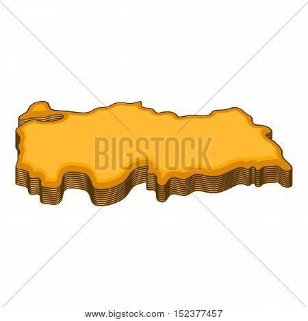 Turkey map icon. Cartoon illustration of turkey map vector icon for web design