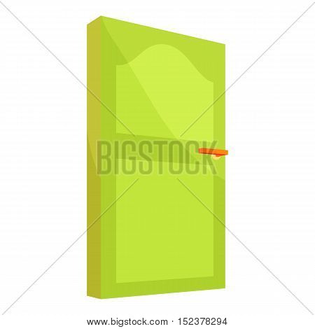 Interior door icon. Cartoon illustration of door vector icon for web design