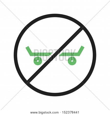 Sign, roller, shoe icon vector image. Can also be used for warning caution. Suitable for use on web apps, mobile apps and print media.