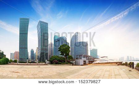 Shanghai city view with oriental pearl tower landmark of Shanghai.