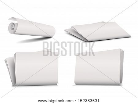 newspaper vector  isolated on a white background