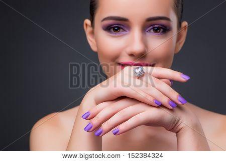 Beautiful woman in fashion concept