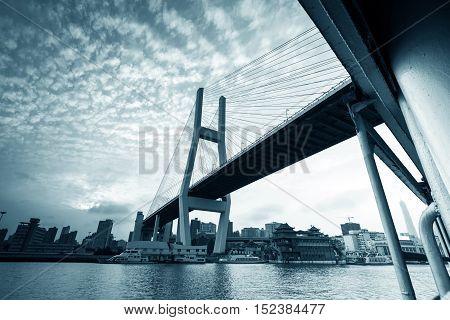 One of the most important bridge between Shanghai: Shanghai Nanpu Bridge.