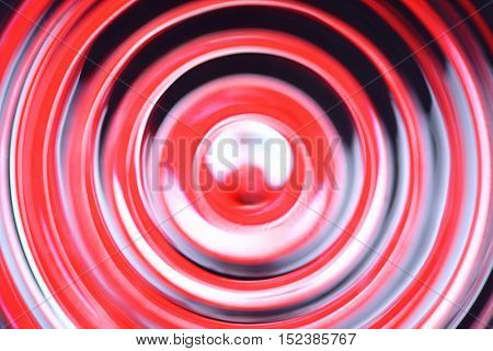 Abstract defocused concentric circles - Stop sign