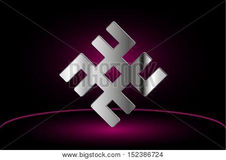 symbol -svarog , Slavic vector illustration , Mysterious ancient symbol,