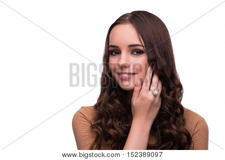 Young beautiful woman in beauty concept