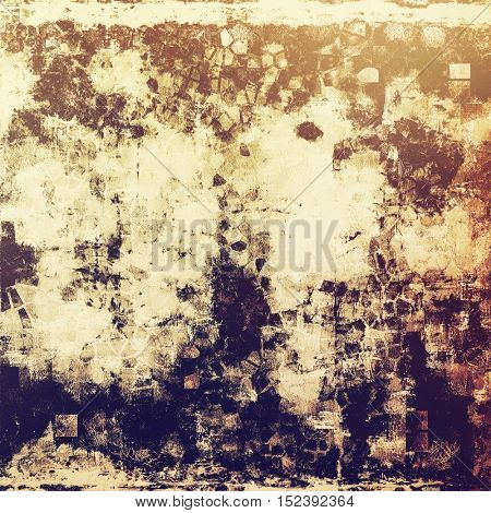 Vintage background with dirty grungy texture or overlay and different color patterns: yellow (beige); brown; gray; purple (violet); pink