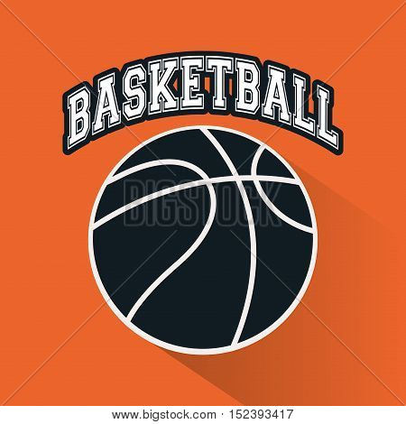 Ball icon. Basketball sport hobby and competition theme. Colorful design. Vector illustration