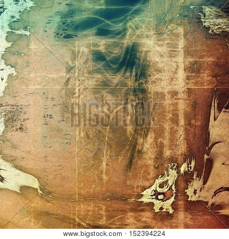 Decorative vintage texture or creative grunge background with different color patterns: yellow (beige); brown; gray; green; blue