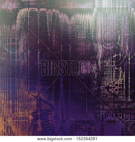 Old grungy stylish composition, vintage texture with different color patterns: yellow (beige); gray; blue; purple (violet); black; pink