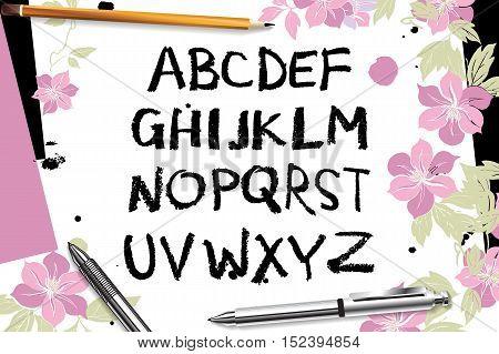 Calligraphic Vector Script Font.