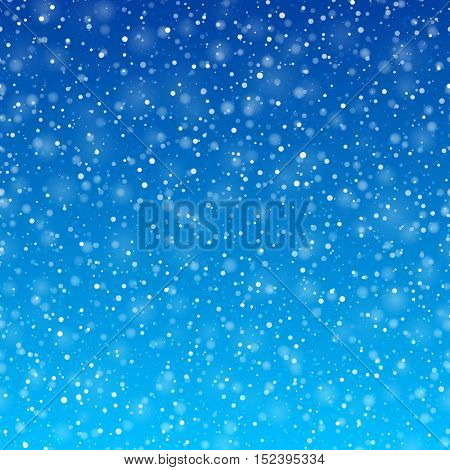 Falling snow background vector illustration