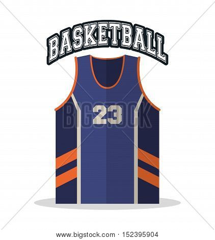 Tshirt icon. Basketball sport hobby and competition theme. Colorful design. Vector illustration