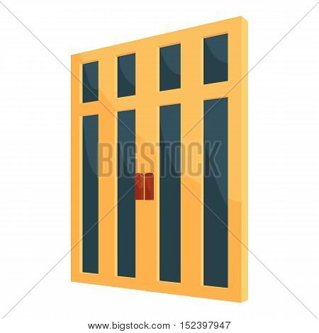Double interior door icon. Cartoon illustration of door vector icon for web design