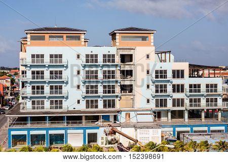 Construction on New Resort building in Aruba