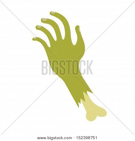 Severed zombie hand halloween icon. Vector illustration