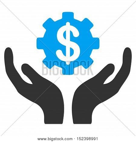 Maintenance Price vector icon. Style is flat graphic bicolor symbol, blue and gray colors, white background.