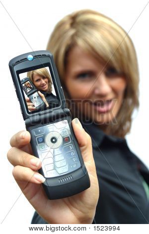 A Beautiful Woman With Phone - Woman Display