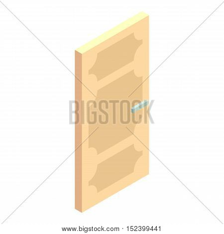 Entrance door icon. Cartoon illustration of door vector icon for web design