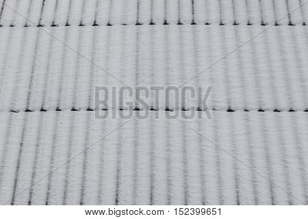 Roof covered snow as background winter texture abstract background
