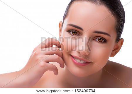 Woman in spa health concept