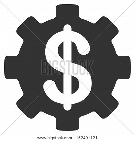 Development Cost vector icon. Style is flat graphic symbol, gray color, white background.