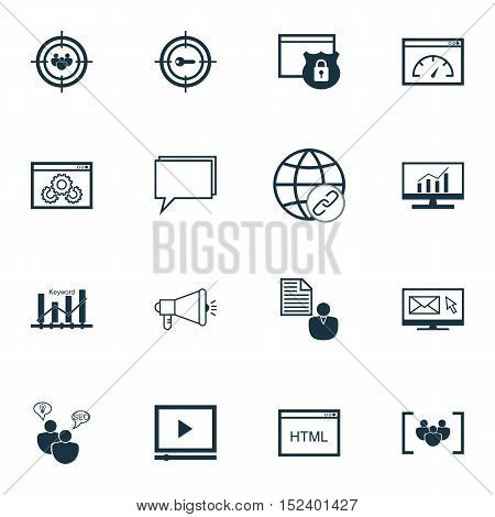 Set Of Seo Icons On Coding, Security And Seo Brainstorm Topics. Editable Vector Illustration. Includ