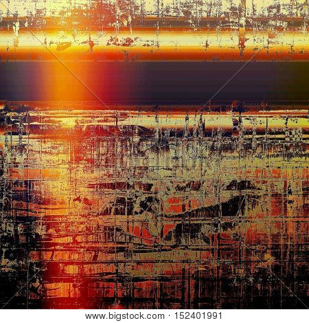 Abstract grunge background or aged texture. Old school backdrop with vintage feeling and different color patterns: yellow (beige); brown; red (orange); black; pink