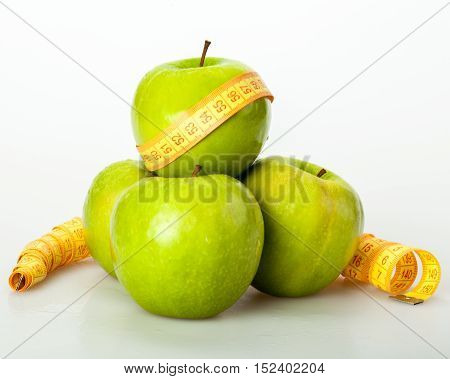 Green Apples From Which One Wrapped With Tape Measure