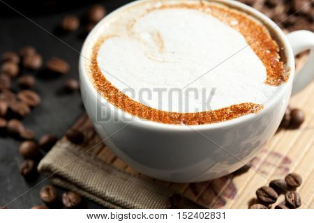 Coffee Cup and Fried Beans