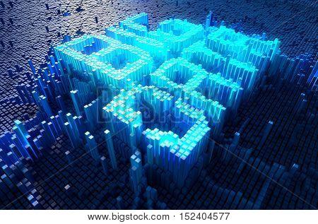 Pixel Big Data Concept