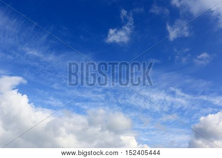 nice white clouds in sky in sunny day