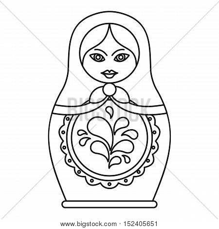 Russian nesting doll icon. Outline illustration of russian nesting doll vector icon for web