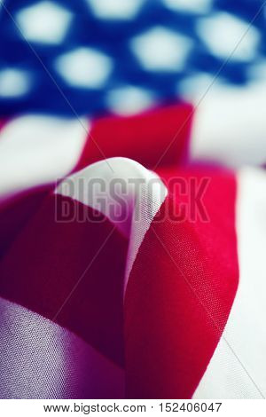 closeup of a flag of the United States of America