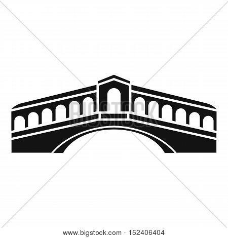 Venice bridge icon. Simple illustration of bridge vector icon for web
