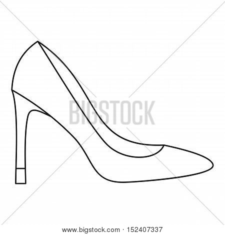 High heel women shoe icon. Outline illustration of high heel women shoe vector icon for web