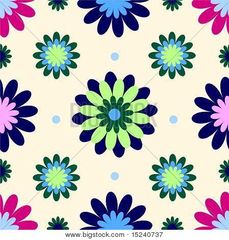 eighties wallpaper with flowers