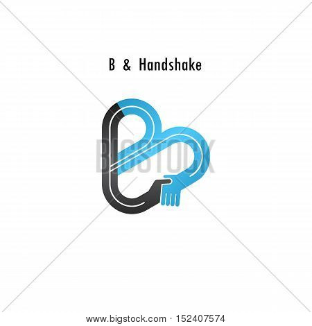 B- letter icon abstract logo design vector template.Business offerpartnership icon.Corporate business and industrial logotype symbol.Vector illustration