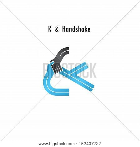 K- letter icon abstract logo design vector template.Business offerpartnership icon.Corporate business and industrial logotype symbol.Vector illustration