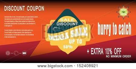 Discount coupon for sale promotion with badges