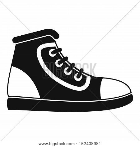Athletic shoe icon. Simple illustration of athletic shoe vector icon for web