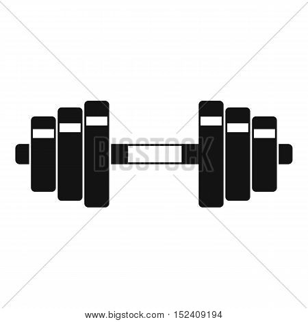 Barbell icon. Simple illustration of barbell vector icon for web