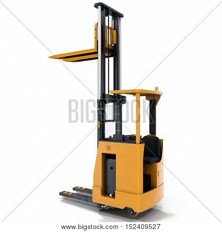 The render of self-propelled loader under the white background. 3D illustration