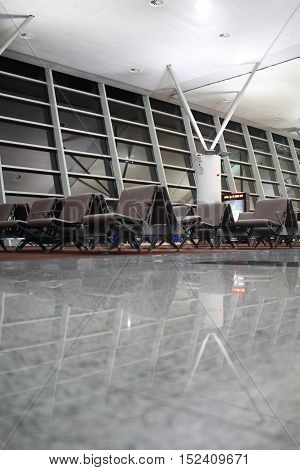 Waiting Room In Airport Terminal
