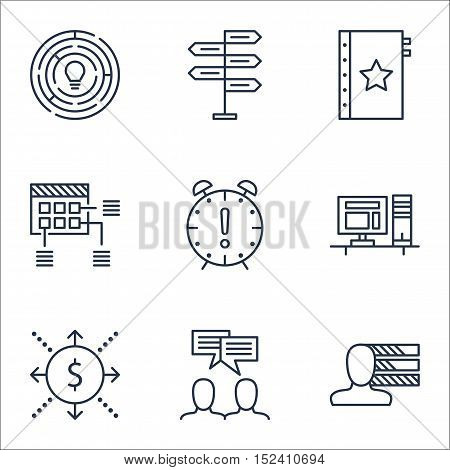 Set Of Project Management Icons On Innovation, Warranty And Opportunity Topics. Editable Vector Illu