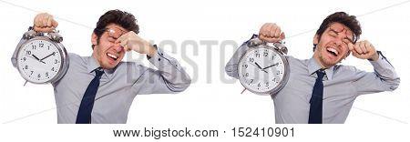 Businessman under stress not meeting his deadlines