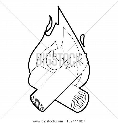 Fire icon. Outline illustration of fire vector icon for web