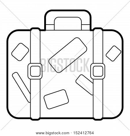Suitcase icon. Outline illustration of suitcase vector icon for web design