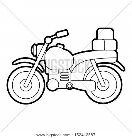 Motorcycle icon. Outline illustration of motorcycle vector icon for web design